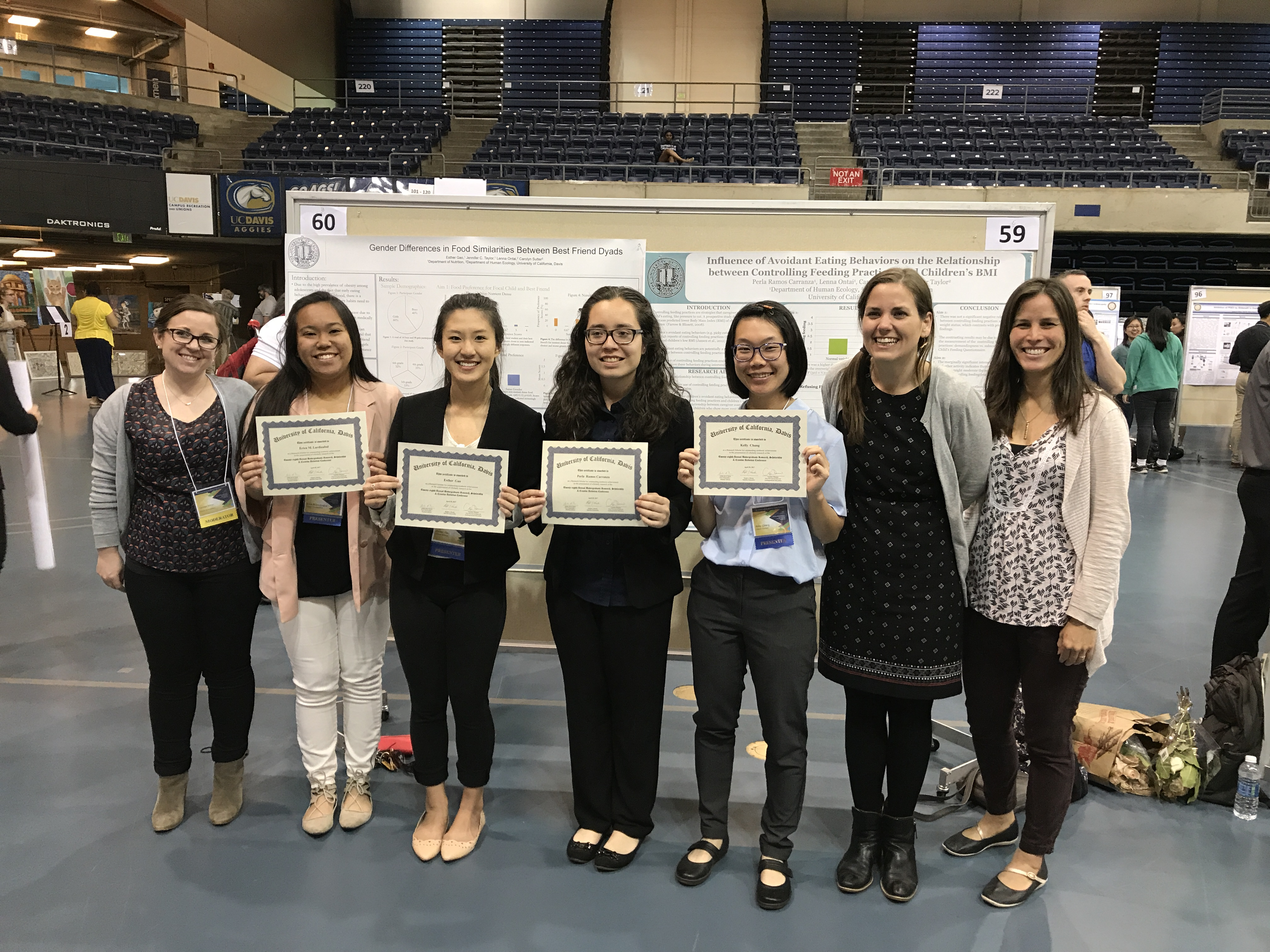 Lab team at the UC Davis 2017 Undergraduate Research Conference