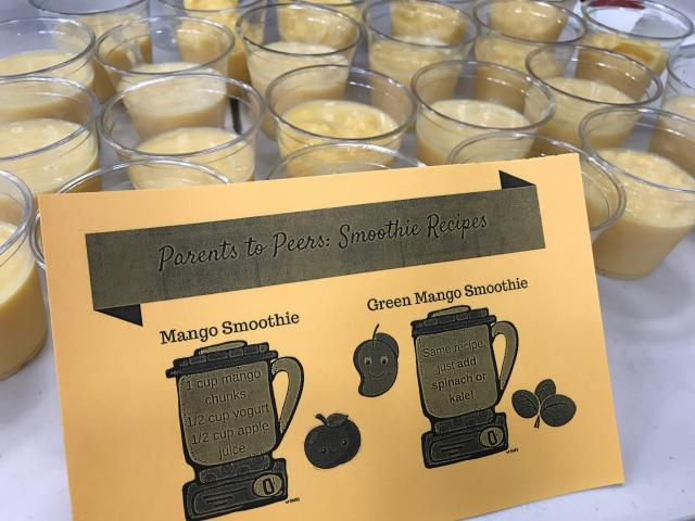Mango Smoothie for Parents to Peers